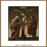 意大利画家卡拉瓦乔Caravaggio油画人物高清图片The Crucifixion with the Virgin a