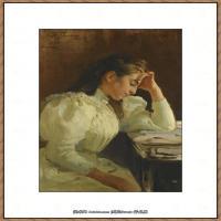 列宾Ilya Repin经典油画作品高清图片人物肖像油画作品图片素材写实派画家油画作品大图 (34)