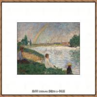 法国新印象主义点彩派画家乔治修拉Georges Seurat油画作品高清大图 (47)