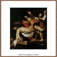 意大利画家卡拉瓦乔Caravaggio油画人物高清图片The Entombment of Christ(c