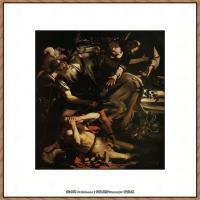 意大利画家卡拉瓦乔Caravaggio油画人物高清图片The Conversion of Saint Paul (c