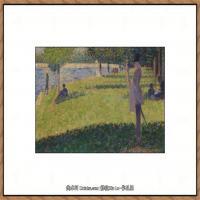 法国新印象主义点彩派画家乔治修拉Georges Seurat油画作品高清大图 (43)
