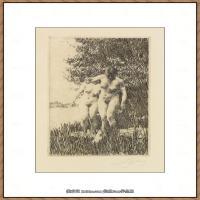 瑞典画家佐恩AndersZorn素描作品高清图片瑞典艺术大师佐恩的线条素描佐恩原作线稿高清图片下载 (103)