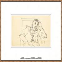 英国表现派绘画大师卢西安弗洛伊德Lucian Freud油画作品高清大图最贵画家卢西安弗洛伊德绘画作品高清图库 (10)
