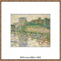 法国新印象主义点彩派画家乔治修拉Georges Seurat油画作品高清大图 (26)