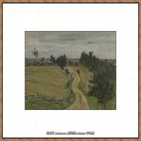 俄罗斯画家伊萨克列维坦Isaac Levitan油画风景作品图片风景油画高清大图 (31)