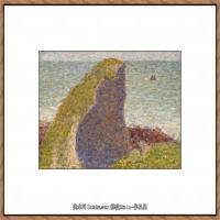 法国新印象主义点彩派画家乔治修拉Georges Seurat油画作品高清大图 (51)