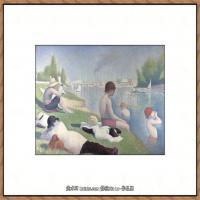 法国新印象主义点彩派画家乔治修拉Georges Seurat油画作品高清大图 (49)