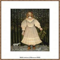 法国画家亨利卢梭Jacques Rousseau油画作品高清图片杰出的油画作品梦 (5)