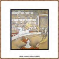 法国新印象主义点彩派画家乔治修拉Georges Seurat油画作品高清大图 (56)