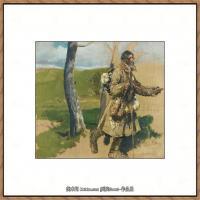 列宾Ilya Repin经典油画作品高清图片人物肖像油画作品图片素材写实派画家油画作品大图 (21)
