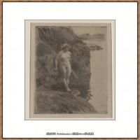 瑞典画家佐恩AndersZorn素描作品高清图片瑞典艺术大师佐恩的线条素描佐恩原作线稿高清图片下载 (77)