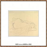 奥地利绘画大师克里姆特Austria Gustav Klimt素描手稿人物素描经典素描高清图片克里姆特速写 (26)
