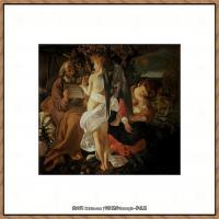 意大利画家卡拉瓦乔Caravaggio油画人物高清图片Rest on the Flight into Egypt (c