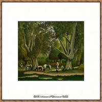 法国画家亨利卢梭Jacques Rousseau油画作品高清图片杰出的油画作品梦 (21)