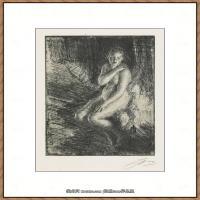 瑞典画家佐恩AndersZorn素描作品高清图片瑞典艺术大师佐恩的线条素描佐恩原作线稿高清图片下载 (120)
