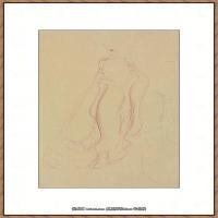 奥地利绘画大师克里姆特Austria Gustav Klimt素描手稿人物素描经典素描高清图片克里姆特速写 (52)