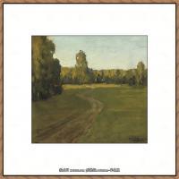 俄罗斯画家伊萨克列维坦Isaac Levitan油画风景作品图片风景油画高清大图 (23)