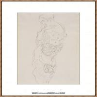 奥地利绘画大师克里姆特Austria Gustav Klimt素描手稿人物素描经典素描高清图片克里姆特速写 (69)