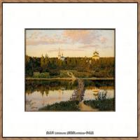 俄罗斯画家伊萨克列维坦Isaac Levitan油画风景作品图片风景油画高清大图 (30)