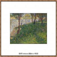 法国新印象主义点彩派画家乔治修拉Georges Seurat油画作品高清大图 (45)