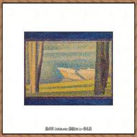 法国新印象主义点彩派画家乔治修拉Georges Seurat油画作品高清大图 (57)
