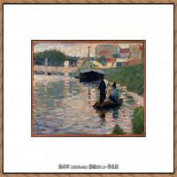 法国新印象主义点彩派画家乔治修拉Georges Seurat油画作品高清大图 (21)