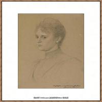 奥地利绘画大师克里姆特Austria Gustav Klimt素描手稿人物素描经典素描高清图片克里姆特速写 (55)