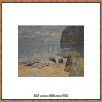 俄罗斯画家伊萨克列维坦Isaac Levitan油画风景作品图片风景油画高清大图 (2)