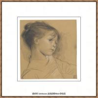 奥地利绘画大师克里姆特Austria Gustav Klimt素描手稿人物素描经典素描高清图片克里姆特速写 (4)