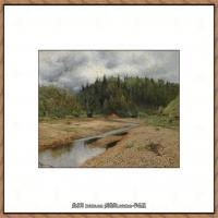 俄罗斯画家伊萨克列维坦Isaac Levitan油画风景作品图片风景油画高清大图 (10)