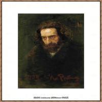 列宾Ilya Repin经典油画作品高清图片人物肖像油画作品图片素材写实派画家油画作品大图 (36)