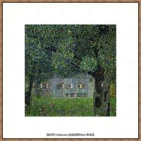 奥地利画家克里姆特Gustav Klimt油画作品高清图片奥地利人的农舍-