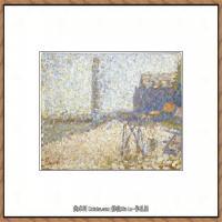 法国新印象主义点彩派画家乔治修拉Georges Seurat油画作品高清大图 (32)
