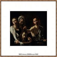 意大利画家卡拉瓦乔Caravaggio油画人物高清图片Salome with the Head of John the
