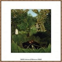 法国画家亨利卢梭Jacques Rousseau油画作品高清图片杰出的油画作品梦 (6)
