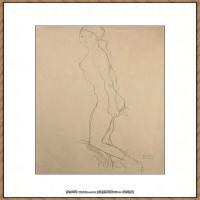 奥地利绘画大师克里姆特Austria Gustav Klimt素描手稿人物素描经典素描高清图片克里姆特速写 (49)