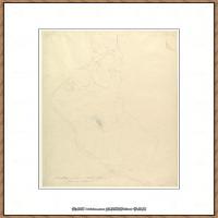 奥地利绘画大师克里姆特Austria Gustav Klimt素描手稿人物素描经典素描高清图片克里姆特速写 (24)