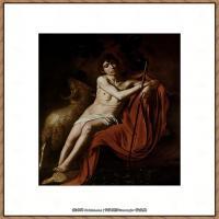意大利画家卡拉瓦乔Caravaggio油画人物高清图片John the Baptist (1610)