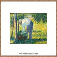 法国新印象主义点彩派画家乔治修拉Georges Seurat油画作品高清大图 (23)