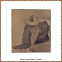 法国新印象主义点彩派画家乔治修拉Georges Seurat油画作品高清大图 (36)