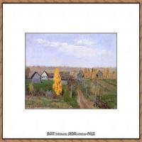 俄罗斯画家伊萨克列维坦Isaac Levitan油画风景作品图片风景油画高清大图 (40)