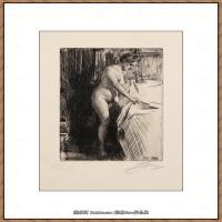 瑞典画家佐恩AndersZorn素描作品高清图片瑞典艺术大师佐恩的线条素描佐恩原作线稿高清图片下载 (86)