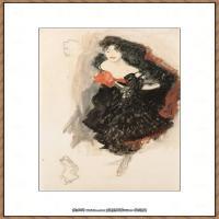 克里姆特Gustav Klimt油画作品奥地利象征主义画家克里姆特油画作品高清图片 (19)