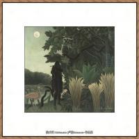 法国画家亨利卢梭Jacques Rousseau油画作品高清图片杰出的油画作品梦 (8)