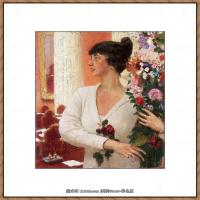 列宾Ilya Repin经典油画作品高清图片人物肖像油画作品图片素材写实派画家油画作品大图 (2)