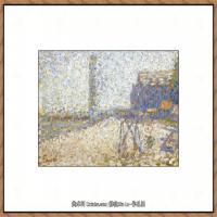法国新印象主义点彩派画家乔治修拉Georges Seurat油画作品高清大图 (35)