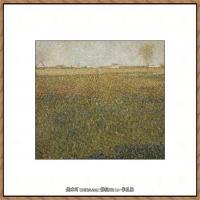 法国新印象主义点彩派画家乔治修拉Georges Seurat油画作品高清大图 (5)