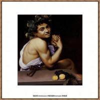 意大利画家卡拉瓦乔Caravaggio油画人物高清图片Young Sick Bacchus (1593)