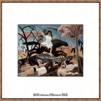 法国画家亨利卢梭Jacques Rousseau油画作品高清图片杰出的油画作品梦 (27)